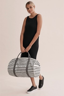 Country Road Classic Stripe Logo Tote
