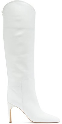 Jil Sander Nappa-leather Knee-high Boots - Beige