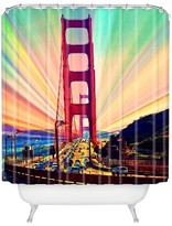 DENY Designs Colorful Commute Shower Curtain Multi