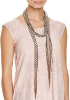 Chan Luu Striped Skinny Scarf