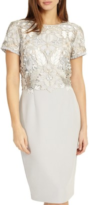 Phase Eight Suki Lace Dress, Grey Smoke
