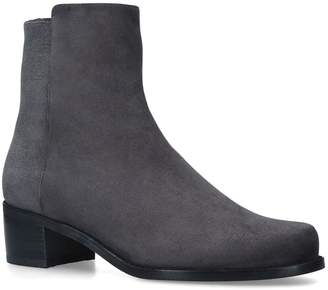 Stuart Weitzman Suede Easyone Reserve Ankle Boots
