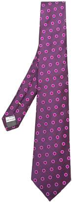 Canali polka dot embroidered tie