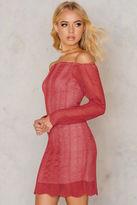 Keepsake Think Twice Ls Lace Dress