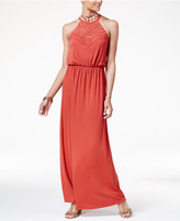 Ultra Flirt Juniors' Crocheted Maxi Dress