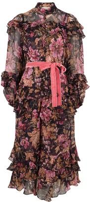 Zimmermann Lucky floral-print silk-chiffon midi dress
