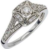 Ice Diamond Ring 1/4 ct tw Round-cut 10K white gold