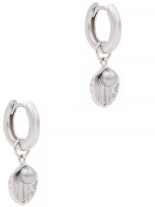 Olivia Burton Under the Sea sterling silver hoop earrings