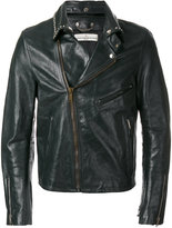 Golden Goose Deluxe Brand Berry biker jacket - men - Calf Leather/Cupro/Viscose - S