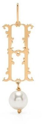Simone Rocha pear-embellished H pendant