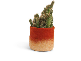 Aveva Design - Medium Ombre Flower Pot - pink - Natural/Black/Brown