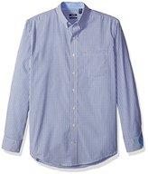 Izod Men's Big and Tall Advantage Performance Stretch Long Sleeve Shirt, Mazarine Blue