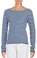 Eileen Fisher Petite Striped Boatneck T-Shirt