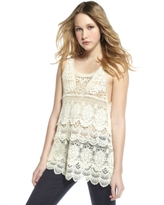 Scalloped Crochet Tank