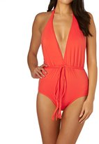 Seafolly Deep V Maillot Swimsuit
