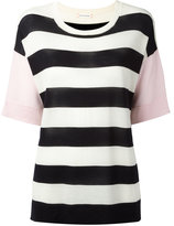 Chinti and Parker striped knit T-shirt - women - Merino - XS