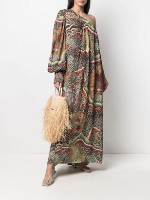 Anjuna Printed One-Shoulder Maxi Dress