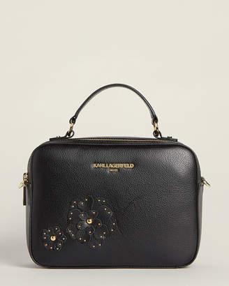 Karl Lagerfeld Paris Miranda Floral Leather Satchel