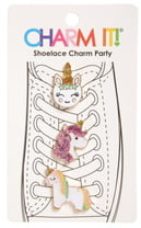 Charm It!® 3-Pack Glitter Unicorn Shoelace Charms