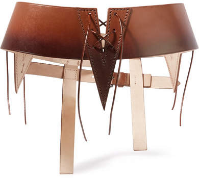 Tom Ford Cutout Ombré Leather Waist Belt - Tan