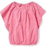 Old Navy Flutter-Sleeve Top for Girls