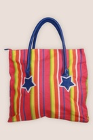Rainbow-Striped Star Tote