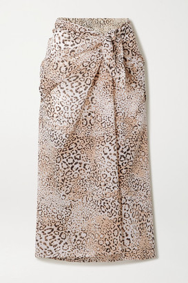 Faithfull The Brand Leopard-print Cotton-voile Pareo - Leopard print