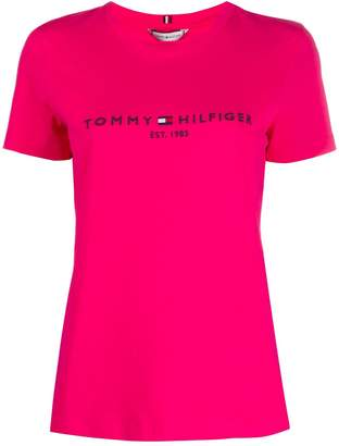 Tommy Hilfiger cotton logo embroidered T-shirt