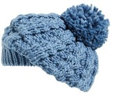 Hinge Women's Knit Pom Beret - Black
