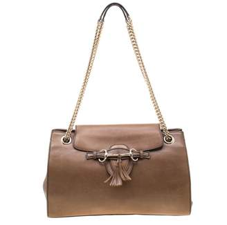 Gucci Emily Brown Leather Handbags