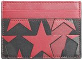 Valentino Garavani Black And Red Leather Camoustars Cards Holder