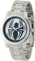 Marvel Black Spider Mens Stainless Steel Watch