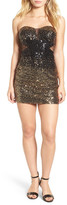 Steppin Out Strapless Sequin Body-Con Dress (Juniors)