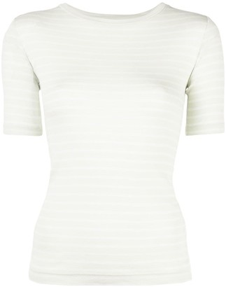 Vince Fitted Striped Top