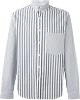Ami Alexandre Mattiussi bi-material button down shirt - men - Cotton - 38