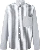Ami Alexandre Mattiussi bi-material button down shirt
