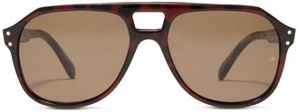 Oliver Goldsmith Sunglasses Glyn 1971 Red On Leopard