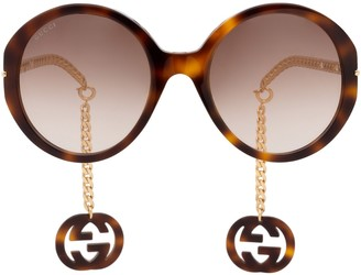 Gucci Gg0726s Havana Sunglasses