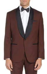 BOSS Henry/Glow Slim Fit Wool Tuxedo