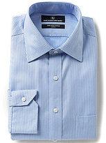 Hart Schaffner Marx Non-Iron Fitted Classic-Fit Spread-Collar Tonal Stripe Herringbone Dress Shirt