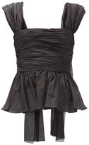 Brock Collection Ruched Cotton-blend Top - Womens - Black