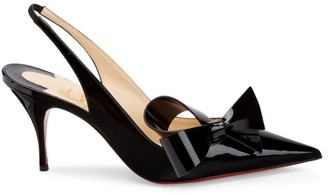Christian Louboutin Clare Nodo Patent Leather Slingback Pumps