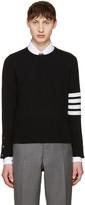 Thom Browne Black Classic Crewneck Short Pullover