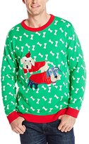 Alex Stevens Men's Holiday Dachshunds Ugly Christmas Sweater