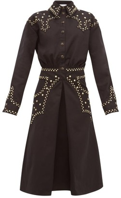 Françoise Francoise - Studded Cotton-twill Shirtdress - Black