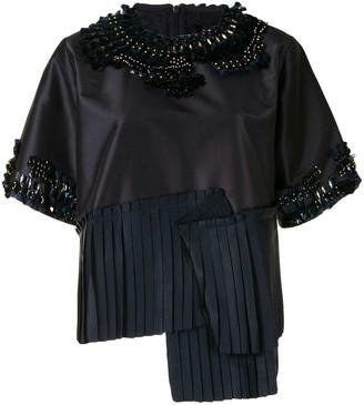 Biyan Asymmetric Embellished Blouse