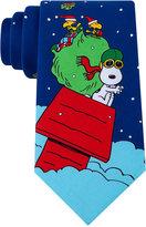 Peanuts Men's Flying House Panel Tie