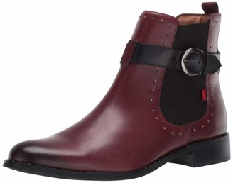 Marc Joseph New York Women's Leather Chelsea Boot with Buckle and Stud Detail Chukka