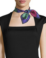 Anna Coroneo Peace Small Square Silk Scarf
