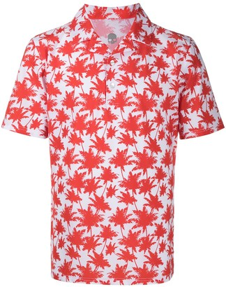 Hydrogen Palm Tree-Print Polo Shirt